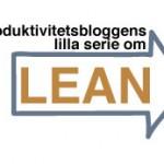 Produktivitetsbloggens lilla serie om LEAN