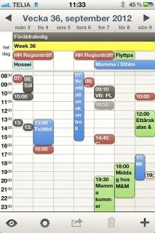 Bra kalender för iPhone