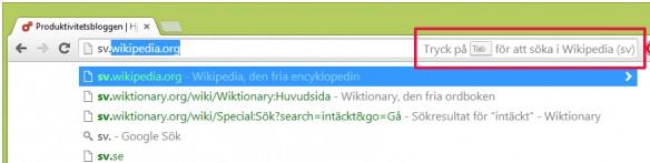 Chrome adressfält sök1