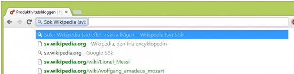Chrome adressfält sök2